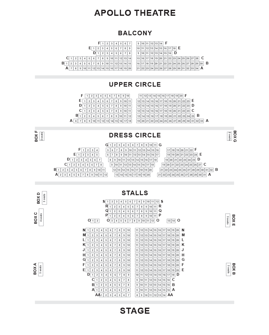 Apollo Theatre London Seating