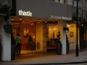 Thistle Royal Trafalger Square Entrance