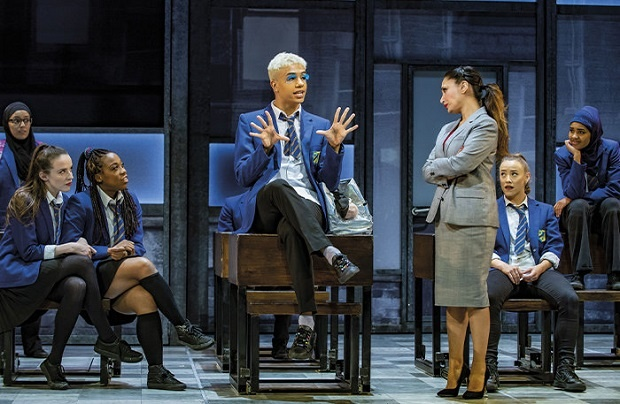 Noah Thomas on stage as Jamie New in Everybody's Talking About Jamie