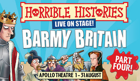 Horrible Histories: Barmy Britain Part Four at the Apollo Theatre, London